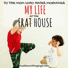 Blessed MOMdays Link Up Party #7 - To the mom who hates mornings - Real Moms Winging It