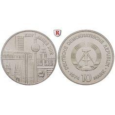 DDR, 10 Mark 1974, Städtemotiv, st, J. 1552: 10 Mark 1974. Städtemotiv. J. 1552; stempelfrisch 32,00€ #coins