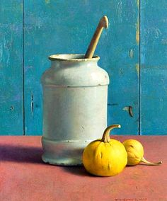 Henk Helmantel  Pharmacist Jar with Pumpkins  1998