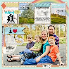 love the large family photo - Could do a layout like this on a standard 12x12 paper (which I have plenty of on hand :)