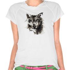 Charcoal Drawing Dog T-shirts