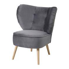 GUBBO Sessel - Samt dunkelgrau - IKEA