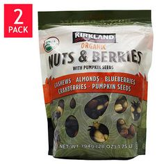 Kirkland Signature™ USDA Organic Nuts & Berries with Pumpkin Seeds, 2 - 28 oz Bags