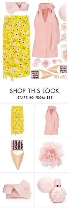 """""""Love for life"""" by sunnydays4everkh ❤ liked on Polyvore featuring Rochas, Temperley London, Ann Demeulemeester, Ted Baker, Repossi, PopsOfYellow and NYFWYellow"""