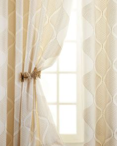 """""""Bora"""" Curtains - Horchow for bedroom. light, airy-we can line them."""