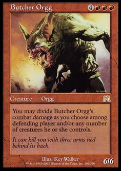 Butcher Orgg - Creature - Orgg - Fireball - Red - Onslaught - Magic The Gathering Trading Card