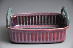 Teal and Purple Medium Ceramic Tray