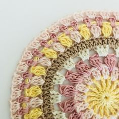 epeat *__* 16 times, join the row with 1 sl st in the Crochet Home, Crochet Crafts, Crochet Doilies, Free Crochet, Free Mandala Crochet Patterns, Loom Knitting Patterns, Yarn Projects, Crochet Projects, Crochet Ideas
