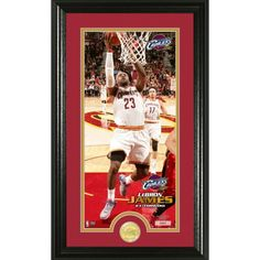 LeBron James Cleveland Cavaliers Bronze Coin Panoramic Photo Mint