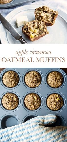Apple Cinnamon Oatmeal muffins are like a warm hug in the morning. Full of fiber, they will keep you full until lunch. Perfect for brunch! Apple Cinnamon Oatmeal, Cinnamon Muffins, Oatmeal Muffins, Cinnamon Apples, Cinnamon Spice, Sweet Breakfast, Breakfast Recipes, Dessert Recipes, Breakfast Muffins