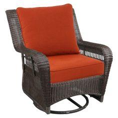 Threshold™ Threshold™ Madaga Wicker Patio Motion Club Chair - Orange