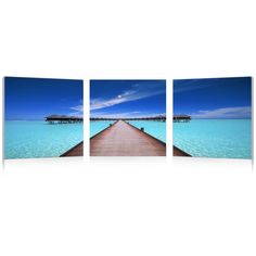 Baxton Studio Overwater Bungalow Mounted Photography Print Triptych | Overstock.com Shopping - Top Rated Baxton Studio Prints