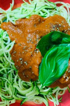 """Zucchini Spaghetti alla Marinara   """"What a fantastic recipe and a great summer go to. Simple and quick to make with no cooking involved!"""" #healthyrecipes #healthycookingideas #dietrecipes #healthyfoods #lightrecipes #weightlossrecipes #weightlossfood"""
