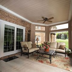 Patio Screened In Porch Design, Pictures, Remodel, Decor and Ideas - page 2 Basement Furniture, Basement Flooring, Flooring Ideas, Patio Under Decks, Deck Patio, Small Patio, Patio Roof, Walkout Basement Patio, Basement Flat