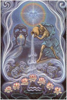 Aquarius | Art by: Johfra | Mistic | Zodiac | Sign | ♒