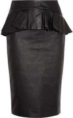 ShopStyle: Peplum! Alexander McQueen Leather peplum skirt