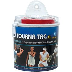 Tourna Tac White 30 Pack in Tour Travel Pouch by Unique Sports. $34.69. Tourna Tac® is made from the same base materials and precision as the original Tourna-Grip®, resulting in a revolutionary grip that is tacky, sweat-absorbing, and durable. Tourna Tac® blends layer upon layer using a proprietary, precision-based manufacturing process. Each individual grip is wrapped with a special liner to keep it in perfect condition.. Save 31%!