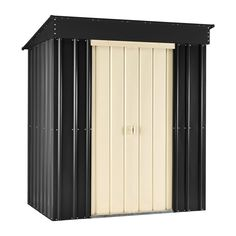 Brand new for 2015.  The Lotus Metal Pent Shed 6x4 is a robust model which is available in two vibrant colour schemes.