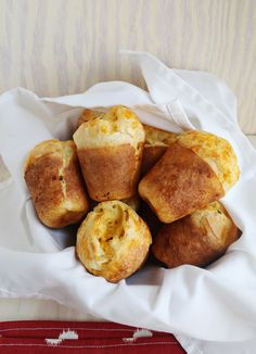 Cheddar Chive Popovers (double the cheese add salt and pepper)