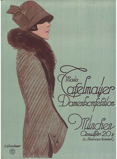 Maria Cafelmayer Clothing for Women, Munich (1927)    Artist : J.KIRSCHNER