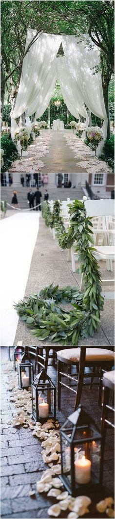 whimsical wedding aisle ideas for outdoor weddings