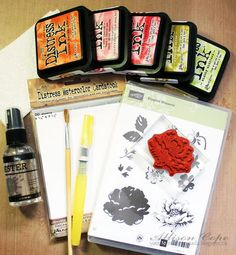 Great info on watercolor paper and on using it with stamps like this!