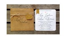 Custom rustic square wedding invitation with by MagentaDesigns, $4.80