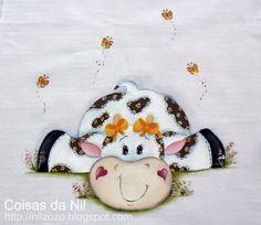 http://nilzozo.blogspot.com/2013/03/pano-de-copa-com-pintura-de-vaquinha-country.html
