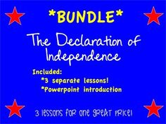 The Declaration of Independence is modernized! In this product you will get THREE different activities that will help your students better understand our nations most important document! With a short introductory powerpoint to introduce the idea of The Declaration of Independence and multiple worksheets to help with language and content, it becomes the perfect partner to help you teach this lesson!