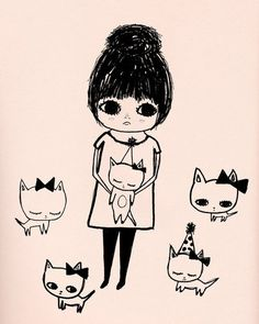 pastel pink cat party