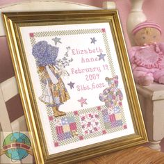 birth record Needlework Kits | Plaid / Bucilla - Holly Hobbie Birth Record - Cross Stitch World