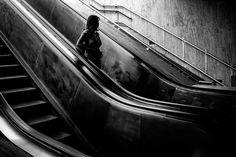 Electric Stairs. Bucharest, 2016. Original, limited edition, signed, fine art print on Hahnemühle high quality paper. #streetphotographer #blackandwhite #street #photography #fineart #urban #monochrome #underground #bucharest #pierrepichot