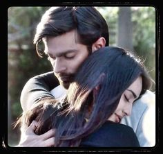 """Asad Ahmed Khan (Karan Singh Grover) and Zoya Farooqui (Surbhi Jyoti), FIRST HUG; """"Qubool Hai""""! Zee TV's no.1 show Indian Show, Qubool Hai, Sriti Jha, Indian Drama, Cute Girl Face, Tv Actors, Days Of Our Lives, Celebrity Couples, Best Actor"""