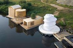 Kaluga Floating Sauna by Rintala Eggertsson Architects