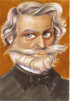 Painting depicting Giuseppe Verdi #howitcouldbe #Verdi #Opera