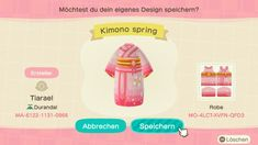acnh designs — Kimono Spring by Tiarael Animal Crossing Funny, Animal Crossing Qr Codes Clothes, Motif Acnl, Kimono Design, Motifs Animal, All About Animals, Animal Games, Vintage Cartoon, Clothing Patterns