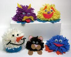 Use Up Your Yarn Scraps ! {make yarn critters!}