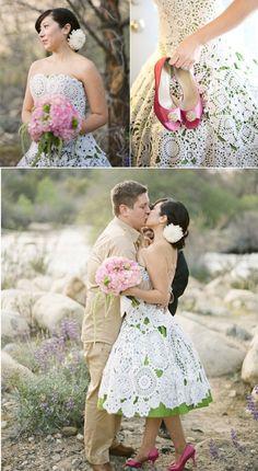 Napperons en papier / en dentelle / crochetés - The Wedding Tea Room