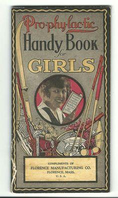 1923 Advertising Premium Book ProPhyLacTic Handy Book Girls Florence Toothbrush