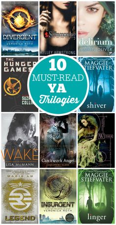 10 Must-Read YA Trilogies - enjoy these books at any age!