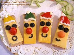 christmas food ideas gnome sandwiches