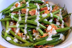 Simply Dressed Caesar Bacon Green Beans