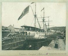 CRUCERO ALFONSO XII. MARTINICA. FORT DE FRANCE. MAYO DE 1896. GUERRA DE CUBA. GRAN TAMAÑO. - Foto 1