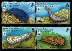 British Indian Ocean Territory W.W.F. Sea Cucumbers Stamps