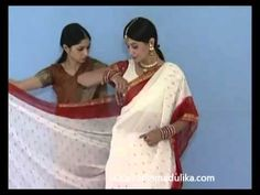 How to wear a Saree in Traditional Style - YouTube