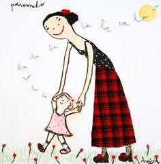 El estilo inconfundible de Eva Armisén - Ahora soy mamá Eva Armisen, Children's Book Illustration, Illustrations, Classic Actresses, Mom Daughter, Islamic Pictures, Mother And Child, Childrens Books, Art For Kids