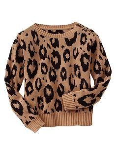 Gap Leopard Jacquard Sweater