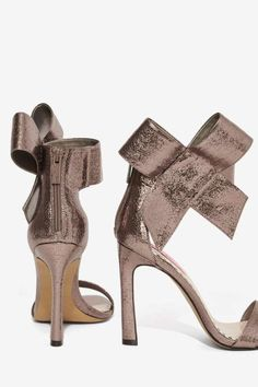 Get ready for some shoe envy. Shop Nasty Gal's latest platforms, high heels, lace up heels, suede heels and stilettos. Bronze Shoes, Silver Heels, Lace Up Heels, Suede Heels, Leather Heels, High Heels, Leather Trousers, Pretty Heels, Betsey Johnson