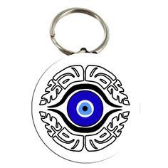 "Evil Eye Amulet Talisman # 2 Keychain 2.25"""