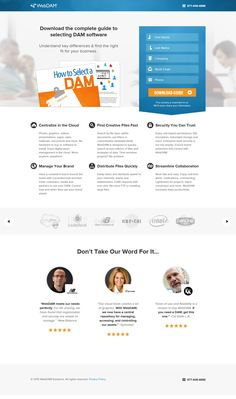 Landing page web design by WebDAM. Best Landing Page Design, Landing Page Examples, Best Landing Pages, Naming Your Business, Business Advice, Web Design Examples, Company Work, Email Templates, Website Design Inspiration